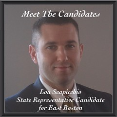 Meet The Candidates: Lou Scapicchio, State Rep Candidate for East Boston. Lou is an acting defense attorney for the Army Reserves and is a champion of Veteran Affairs. He has served the United States army for 14 years, and has six years of legal experienc