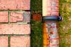 Brick, moss, pipe