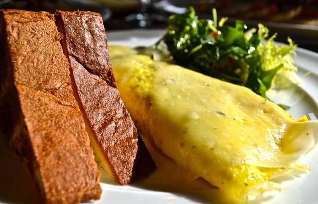 wild mushroom omelet - elevage restaurant, tampa florida