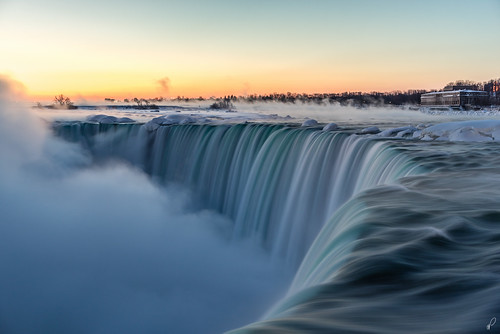 new york nyc longexposure blue winter usa mist ny ontario canada cold ice water fog america sunrise river landscape photography waterfall twilight state finger sony fingers niagara falls steam hydro freeze hour horseshoe f4 province frostbite emptyquarter 2470 a7r na3eem