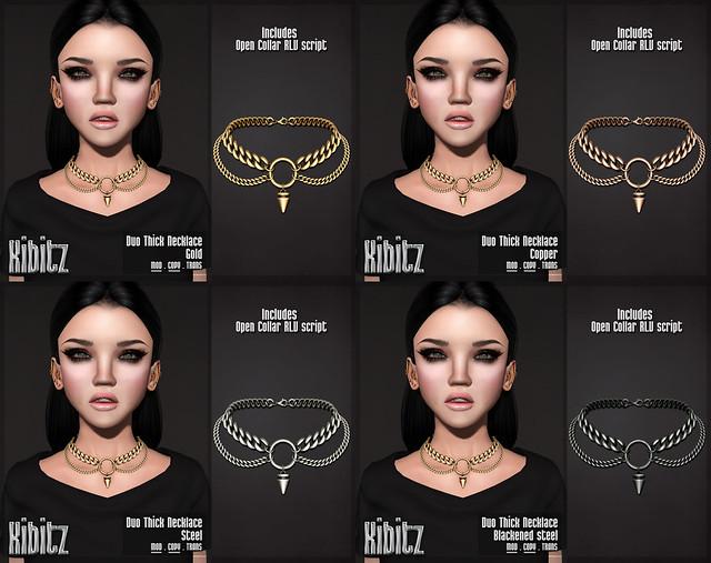 Kibitz duo thick necklace