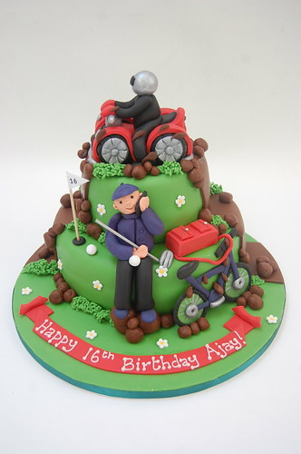 Quad Bike BMX And Golf Cake