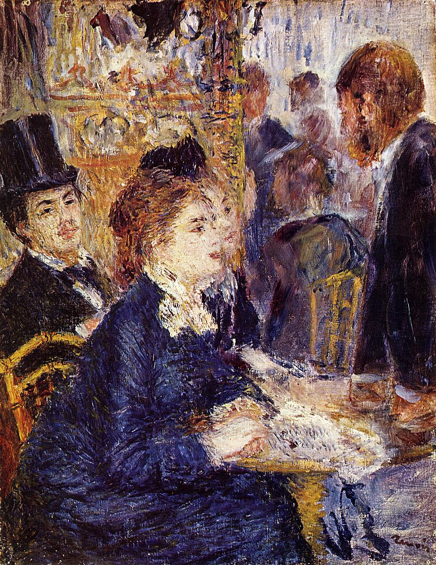 The Cafe by Pierre Auguste Renoir - circa 1874-1877