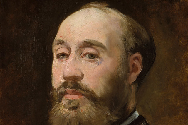 Detail of Unfinished portrait of Jean-Baptiste Faure by Édouard Manet [public domain]