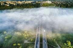 Fog over the river | Kaunas aerial | Autumn 2016