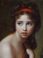 VIG�E-LE BRUN Elisabeth,1792 - Julie Le Brun, en Baigneuse - Detail -b