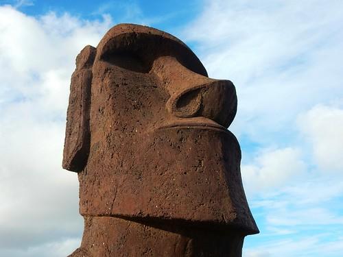Moai in Rano Raraku - Rapa Nui - Eastern island - Chile