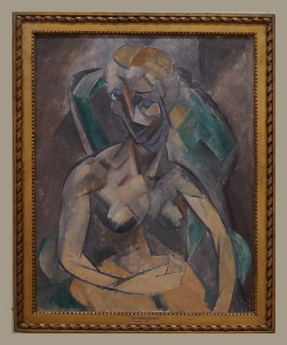Pablo Picasso (1881-1973) Jeune femme/Young Woman, 1909, oil on canvas