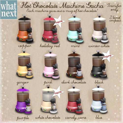 {what next} Hot Chocolate Machine Gacha Key