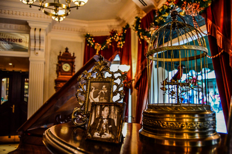 Walt's Lobby Birdcage and Photos