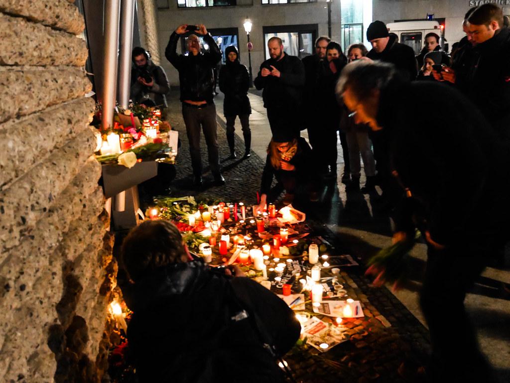 Manifestation de solidarité pour Charlie Hebdo à Berlin