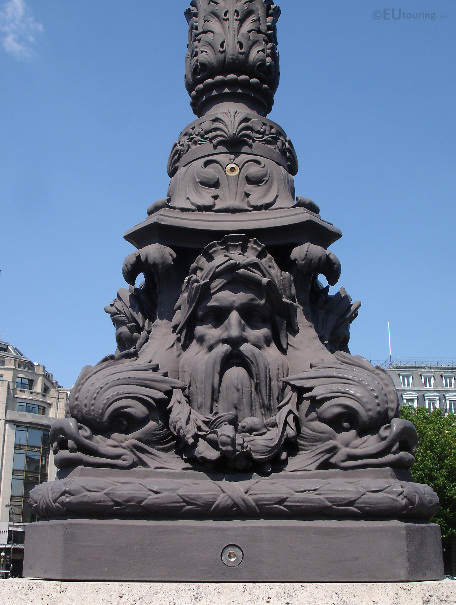 Detailed lamp posts on the Pont Neuf