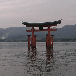 Floating Trii at Itsukushima