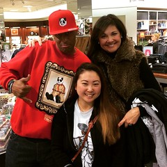 "Shout out to @__msmc and The Queen ""Mama Pierce"" for Rockin with Psycho Panda Streetwear!! See Mina rockin the Turntables Tee and Mama Pierce with more than those two hoodies in her hand and much more at the Nordstrom b-side recap at www.PsychoPandaStreet"