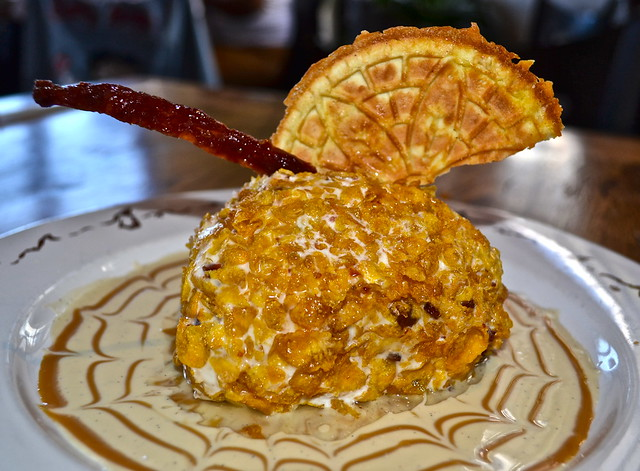 Ulele Restaurant - Candied Duck Bacon Maple Fried Ice Cream
