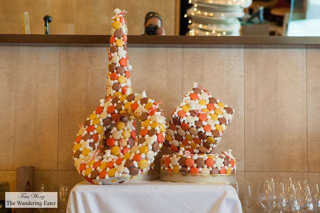Holiday themed large pastry centerpieces