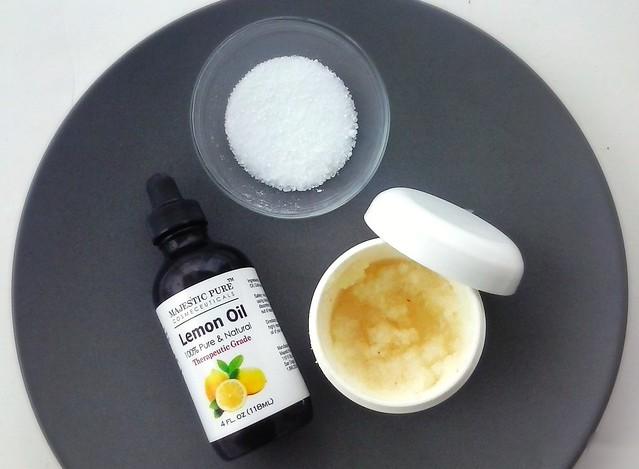 DIY Lemony Facial and Body Scrub