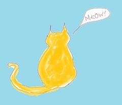 .. a cat ..