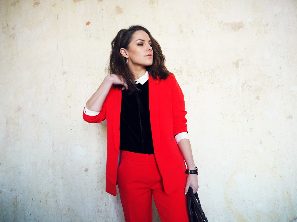 ASOS red cigarette suit 7