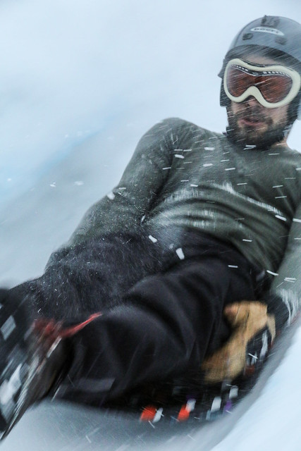 Alex on the Luge