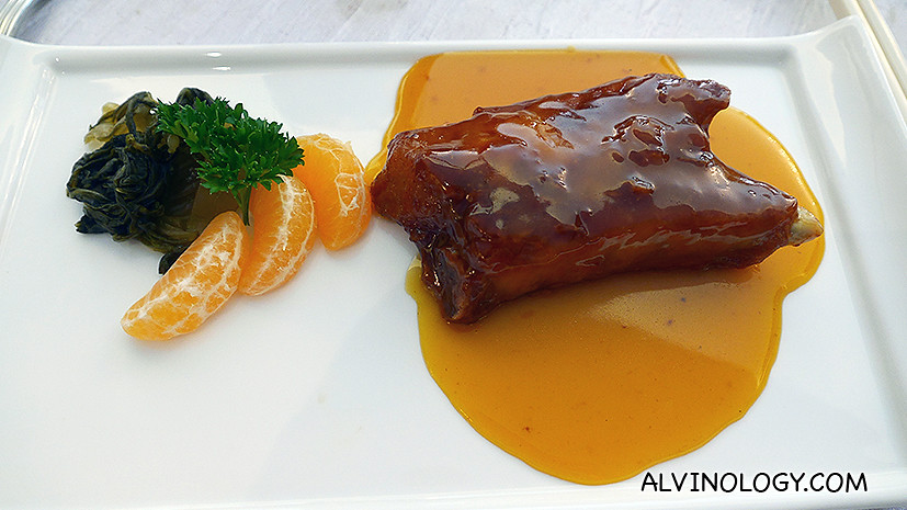 Baked Pork Rib with Sweet Orange Sauce