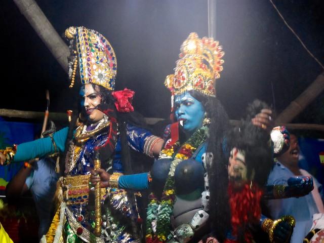 India - Munroe Island - temple festival