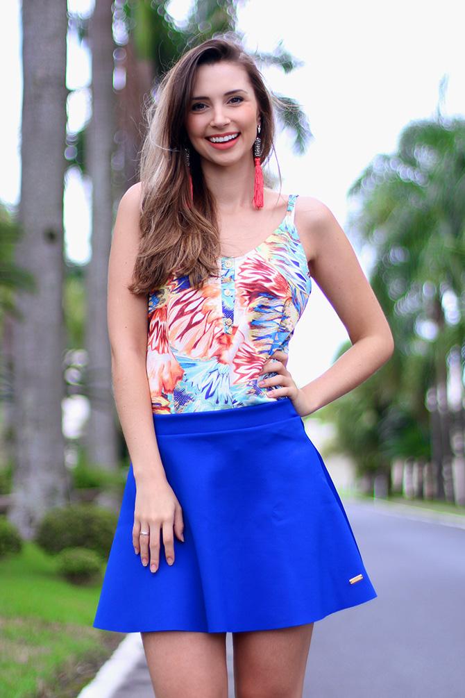 7-look com saia azul bic lamandinne blog sempre glamour
