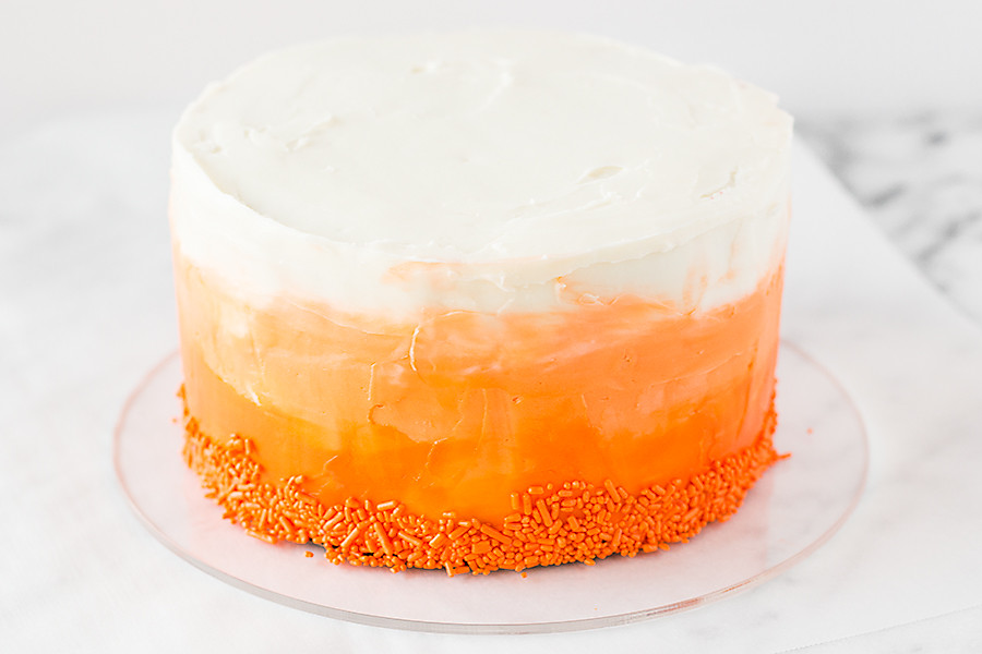 Spread sunshine with this Ombre Red Velvet Cake