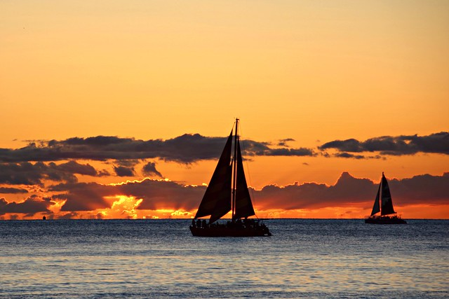 Sunset sail at Hawaii