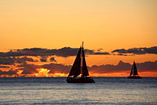 Sunset sail at Hawaii