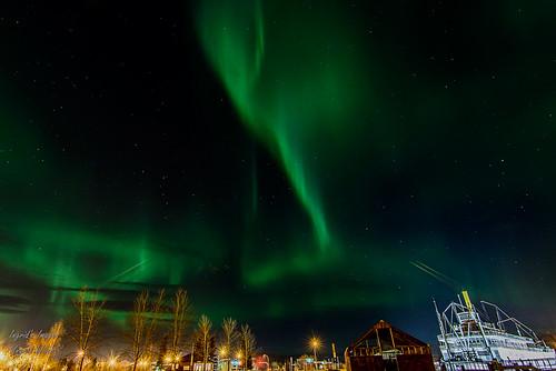 Aurora over S.S. Klondike