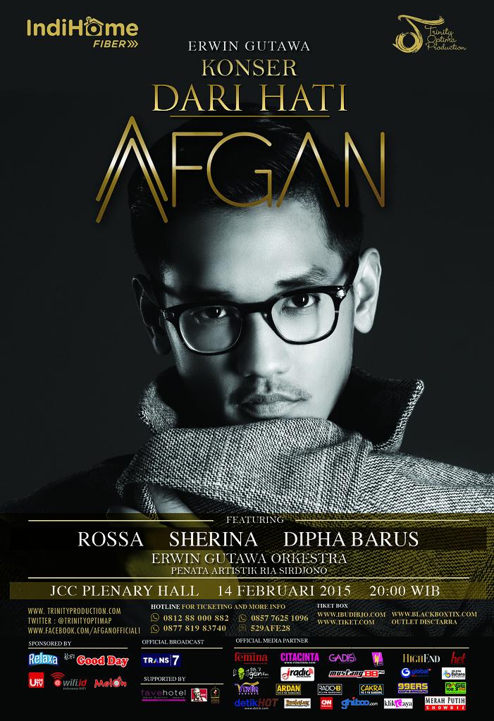 Konsert Dari Hati AFGAN di Plenary Hall JCC Indonesia
