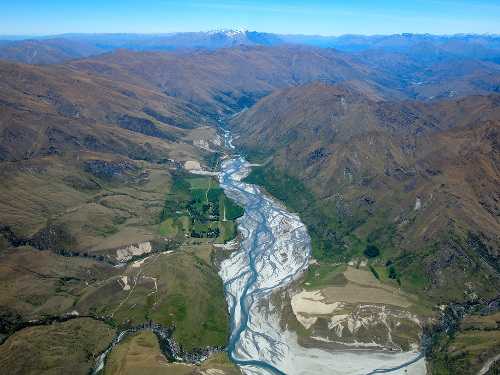 Flying over the Dart River in New Zealand