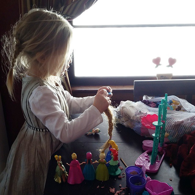 Playdoh and Princesses. All day, every day. #Liliana #3YearsOld #three #playmatters