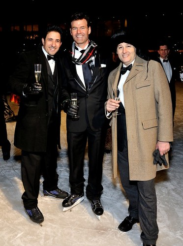 L-R: Rafael Feldman, Billy Farr at Altaneve On Ice, New York, NY, February 26, 2015 (Photo by Stephen Smith/Guest of a Guest)