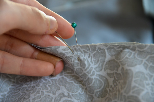 "Step 12 - As You Remove Pins, Check for 1/4"" Inseam"