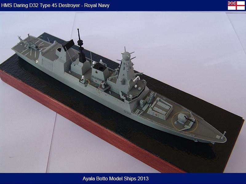 HMS Daring D32 Type 45 Destroyer Royal Navy - Cyber Hobby 1/700 16649286136_ee7154dfe2_c