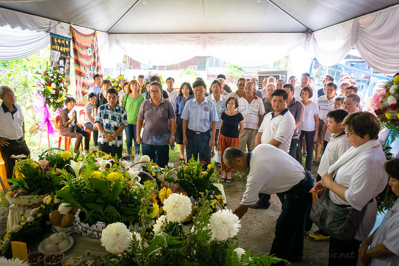 People paying last respects at Grandfather's funeral