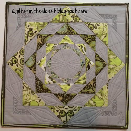 Tula Pink Mini Quilt Swap item - front