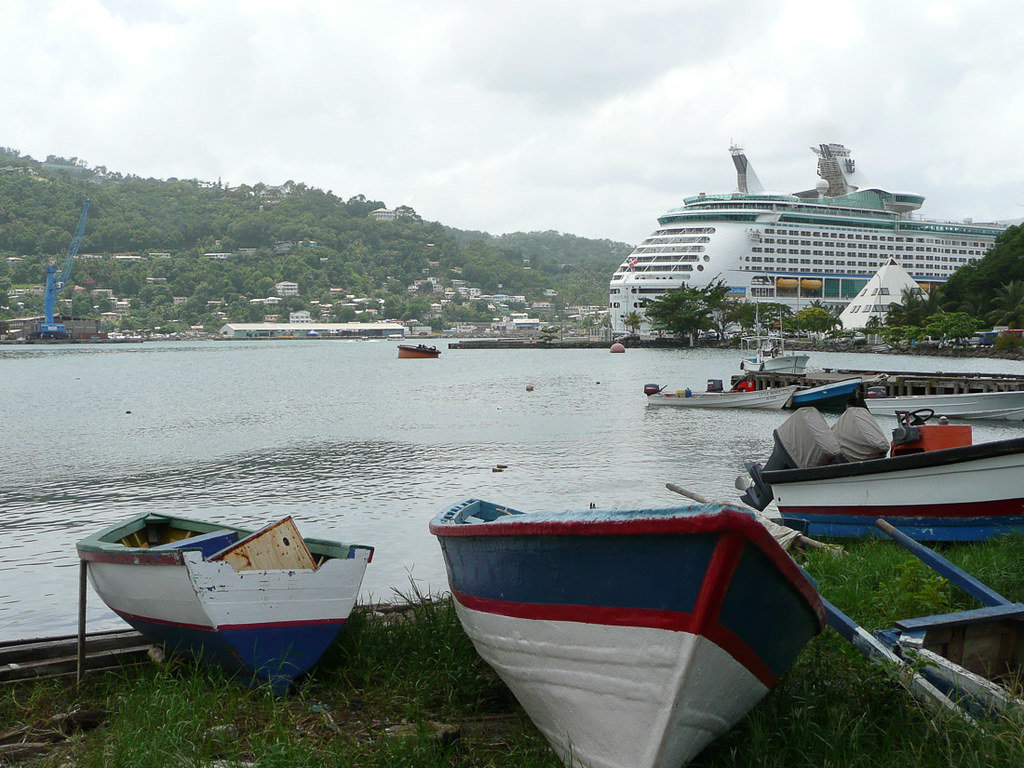 Views around cruise ship dock area in St. Lucia