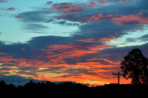 sunrise trees sky clouds telephonepole pole electricpole wires ncmountainman nikon d3200 phixe lowresolutionversion