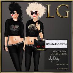 [LG] AM Winter 2014 Hey Baby Glitter Hoodie Set Bagged 1