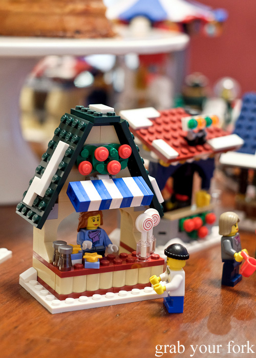 Lego winter village candy store at the Stomachs Eleven Christmas dinner 2014