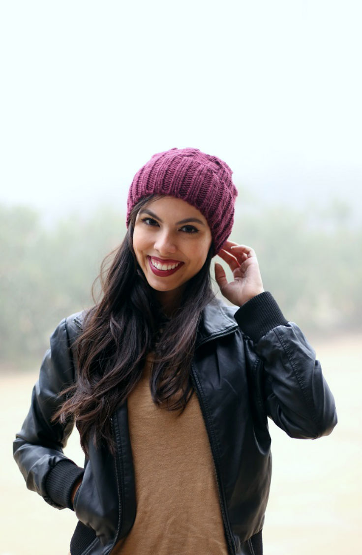 burgundy beanie and lipstick, austin texas style blogger, austin fashion blogger, austin texas fashion blog