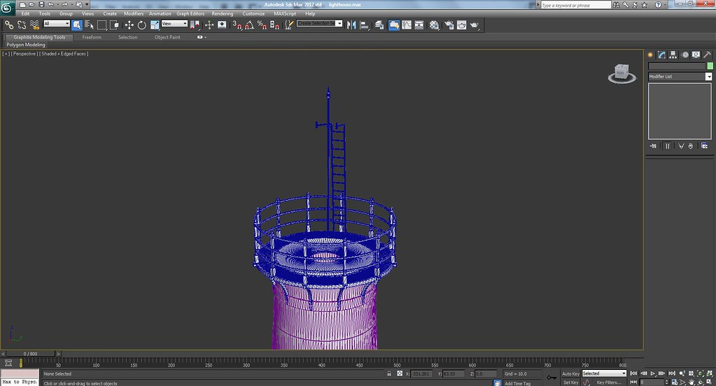 Rusted Old 3d Light House In Progress Wire Frame Screenshots
