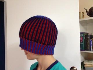 Brioche stitch beanie