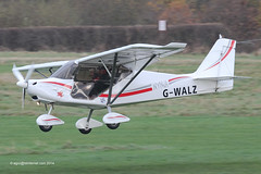 G-WALZ - 2012 build Bestoff Skyranger Nynja, arriving on Runway 26R at Barton