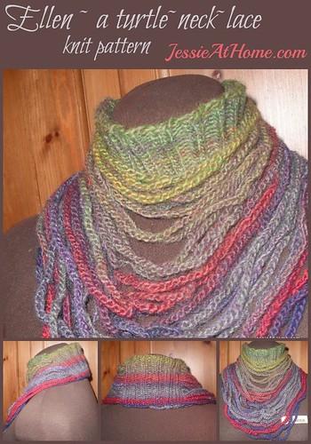 Ellen ~ a turtle~neck~lace knit pattern by Jessie At Home