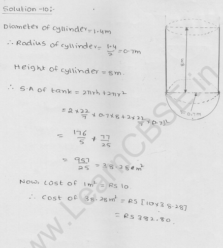 RD Sharma Class 9 solutions Chapter 21 Surface Area and volume of A Sphere Ex  21.1 6