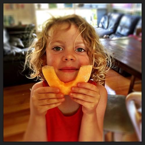 365/362 • rockmelon or canteloupe? Christmas smiles • #2014_ig_362 #4yo #christmas2014 #love #morningtonpeninsula